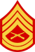 three chevrons up and two down with crossed rifles