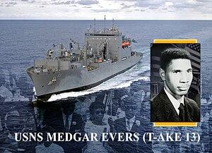USNS Medgar Evers announcement