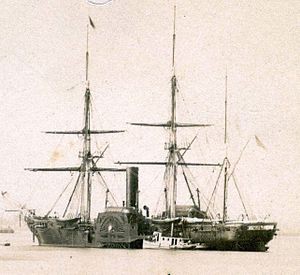 USS Susquehanna (1850) - Image: USS Susquehanna sidewheel steam frigate by Gutekunst, 1860s