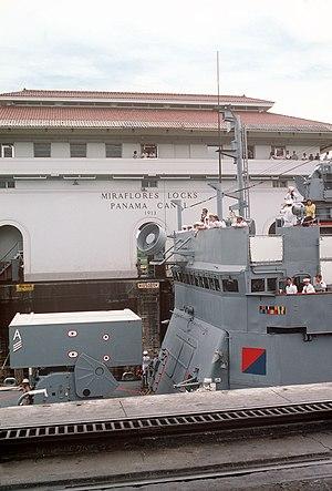 Brooke-class frigate - Image: USS Talbot (FFG 4) ASROC Panama Canal