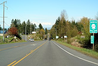 Clallam County, Washington - US Route 101 at the interchange with Washington State Route 117
