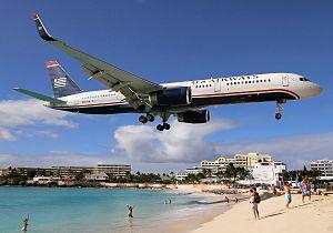 US Airways Boeing 757-200 St. Maarten Breidenstein.jpg