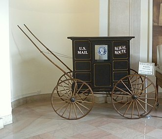 Mail coach - Late 19th century US Mail wagon