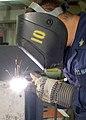 US Navy 020724-N-1280S-002 Welder works aboard ship.jpg
