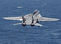 US Navy 040820-N-4374S-003 An F-14B Tomcat assigned to Fighter Squadron One Zero Three (VF-103) launches off the flight deck aboard the aircraft carrier USS John F. Kennedy (CV 67).jpg