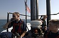 US Navy 040831-N-1348L-042 Crew members assigned to the Los Angeles-class attack submarine USS Toledo (SSN 769) stand watch looking for contacts.jpg