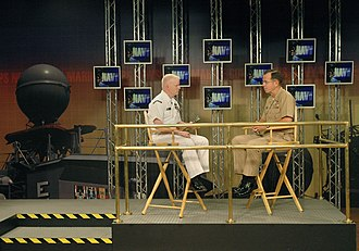Michael Mullen - Mike Mullen is interviewed by Journalist 1st Class Tony Sisti assigned to Navy Marine Corps News (NMCN) at Naval Media Center Anacostia, July 26, 2005