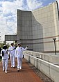 US Navy 090406-N-8273J-017 Chief of Naval Operations (CNO) Adm. Gary Roughead departs the U.S. Embassy after meeting with Charge d'Affairs Helen La Llime in Pretoria, South Africa.jpg