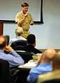 US Navy 090507-N-7948R-002 Vice Adm. Mark E. Ferguson, III, chief of Naval Personnel, speaks to participants at the Echelon II Inspector General Conference at Wood Hall.jpg