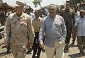 US Navy 091014-N-8829H-090 Commodore Rodney Clark, Commander, Amphibious Squadron 7 speaks to President of the Democratic Republic of Timor-Leste Jose Ramos Horta.jpg