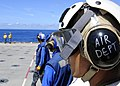 US Navy 110928-N-WJ771-012 Flight deck personnel assigned to the forward-deployed amphibious transport dock ship USS Denver (LPD 9).jpg
