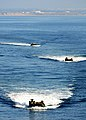 US Navy 111101-N-YG354-165 Amphibious assault vehicles assigned to the 11th Marine Expeditionary Unit (11th MEU) approach the amphibious assault s.jpg