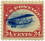"""Curtiss Jenny24¢, 1918 """"Fast Plane"""""""
