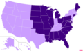 US states by Mainline or Black Protestant population.png