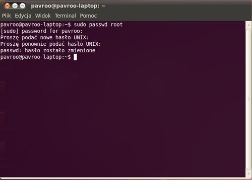 Ubuntudostęp Do Konta Root Wikibooks Biblioteka Wolnych