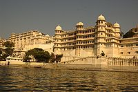 Udaipur, where Chevenix-Trent spent three years