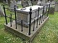 Ugo Foscolo Memorial St Nicholas Churchyard Chiswick, oblique view.JPG