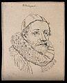 Uitenbogart (Johannes Wtenbogaert?); portrait. Drawing, c. 1 Wellcome V0009242EL.jpg