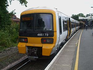 Mid-Kent line - A Southeastern class 465 at Hayes
