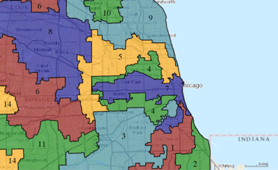 United States Congressional Districts In Illinois Metro Highlight Since 2013 Tif