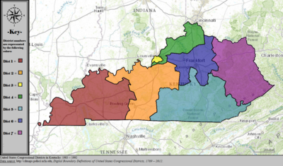 United States Congressional Districts in Kentucky, 1983 – 1992.tif