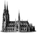 Uppsala domkyrka 1892, södra fasaden.png