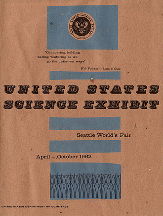 Century 21 Exposition - Cover of the United States Science Exhibit Guide for the Seattle World's Fair, United States Department of Commerce