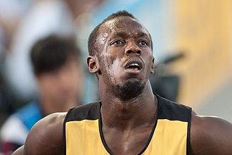2011 World Championships in Athletics – Men's 100 metres - Defending champion Usain Bolt false started.