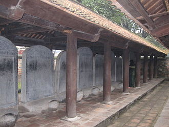 Literary Chinese in Vietnam - Stelae at the Temple of Literature in Hanoi, recording the names of doctoral graduates in the civil service examinations