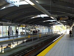 Holdom station - Image: Vancouver BC Holdom Skytrain Station Platform