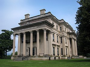 Vanderbilt Mansion National Historic Site - Hyde Park, with classicism, balance, and ornamentation, is an example of Beaux-Arts architecture.