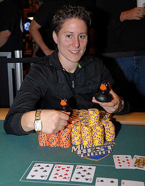 Vanessa Selbst - Selbst after winning the $1,500 Pot-Limit Omaha event at the 2008 World Series of Poker