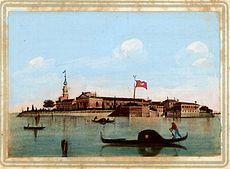 19th century postcard of San Lazzaro degli Armeni