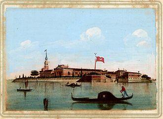Mekhitarists - The island of San Lazzaro, with the monastery and the church of Mekhitarists.