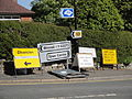 Ventnor Gills Cliff Road roadworks signs.JPG