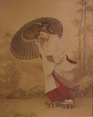 Venturing out in the Rain by Ogawa Kazumasa, Honolulu Museum of Art.JPG