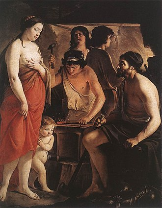 Museum of Fine Arts, Reims - Image: Venus at the Forge of Vulcan, Le Nain