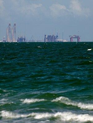 Corpus Christi Bay - Industry toward Ingleside