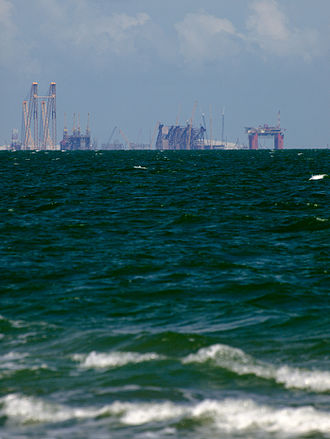 Corpus Christi Bay - Industry toward Ingleside