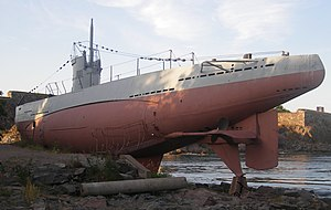 Finnish submarine Vesikko - Another view of the submarine as it is today