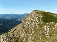 Vetta del monte Saccarello, nell'imperiese, il punto più elevato della Liguria.