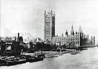 Victoria Tower Gardens - The site of Victoria Tower Gardens in 1865.