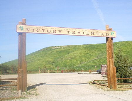 Victory Trailhead to the Upper Las Virgenes Canyon Open Space Preserve, West Hills Victory Gateway at Upper Los Virgenes.JPG