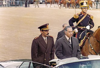 "Jorge Rafael Videla - Argentine dictator Jorge Rafael Videla at the opening of 1976's ""Exposición Rural"" in Palermo, Buenos Aires"