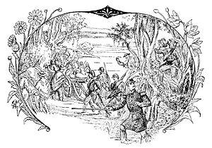 "Battle of Guayaquil - Illustration of the battle from Vie Illustrée de García Moreno (""Illustrated Life of García Moreno""), published in France by Charles d'Hallencourt in 1887"