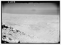 View from Mt. Hermon looking westward showing Litany Gorge and sea beyond with Tyre. LOC matpc.03777.jpg