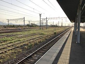 Yanagigaura Station - Image: View from platform of Yanagigaura Station 1
