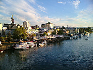 Valdivia - View of Valdivia from Pedro de Valdivia Bridge