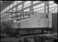 View of the tender for C class 2-6-2 steam locomotive, New Zealand Railways no 851, under construction at Hutt Railway Workshops, Woburn. ATLIB 290100.png