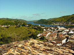 View over Cachoeira and Paraguacu River - Sao Felix Visible Across the River - Bahia - Brazil.JPG
